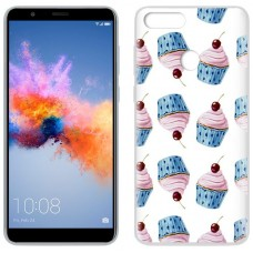 Carcasa COOL para Huawei Honor 7X Clear Cup Cakes