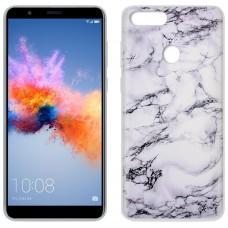 Carcasa COOL para Huawei Honor 7X Dibujos Mármol Blanco