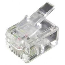 KIT 100 CONECTORES  RJ11 4P4C  EQUIP   121111
