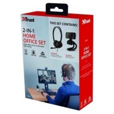 BUNDLE DOBA DE AURICULARES Y WEBCAM HD 720P TRUST USB