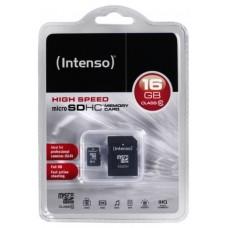 Intenso 3413470 Micro SD clase 10 16GB c/adapt