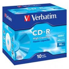 VERBATIM CD-R 800MB 40X JEWEL CASE 10 (Espera 3 dias)