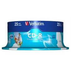 CD-R VERBATIM 700MB 80MIN 52X PRINTABLE T.25