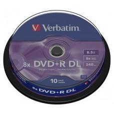 DVD+R Verbatim doble capa  8.5GB 240Min 8x tarrina 10