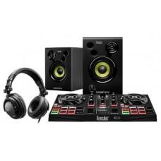 Hercules DJLearning Kit controlador dj Negro DVS (Sistema de vinilo digital) para scratch digital