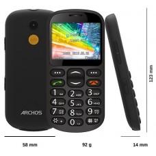 Archos Senior phone 92g Negro Teléfono para personas mayores