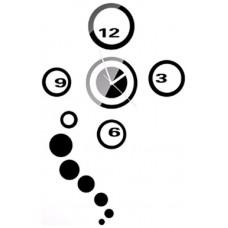 Reloj Decorativo de Pared Adhesivo Negro