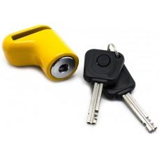 Candado Antirobo Moto Pinza Amarillo con llave con luz