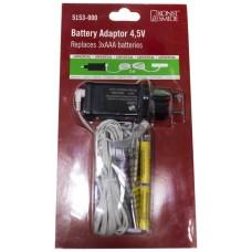 Adaptador / Reemplazo de Batería 3 Pilas Tipo AAA Fuente Alimentación 4.5V