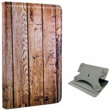 Funda COOL Ebook / Tablet 9.7 - 10 pulg Polipiel Madera Giratoria (Panorámica)