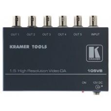 Kramer Electronics 105VB amplificador de línea de video 400 MHz Negro