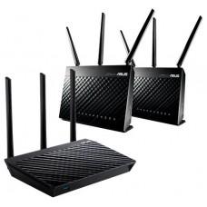 ASUS RT-AC66U B1 router inalámbrico Gigabit Ethernet Doble banda (2,4 GHz / 5 GHz) Negro