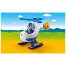 Playmobil 1.2.3 helicoptero policia