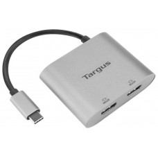 ADAPTADOR TARGUS USB-C A 2xHDMI PLATA