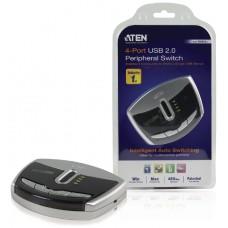Aten Switch de periféricos USB 2.0 de 4 puertos