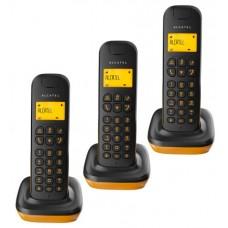 Alcatel D135 Trio Teléfono DECT Negro, Naranja Identificador de llamadas