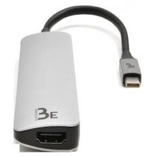 Bluestork BE-DOCK-USBC-MINI hub de interfaz USB 3.2 Gen 1 (3.1 Gen 1) Type-C 5 Mbit/s Negro, Gris
