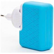 Bluestork BS-220-4USB-PBL Interior Azul, Color blanco cargador de dispositivo móvil