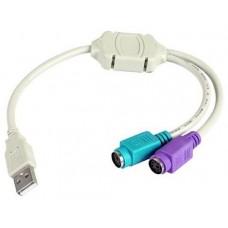 Adaptador cable  3GO USB-PS2