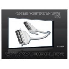 CABLE 3GO IMPRESORA 5M LPT (CENTRONICS)
