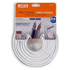 CABLE COAXIAL ENGEL 25M-BLANCO-COLGABLE