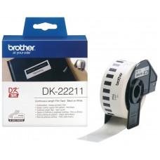 Brother Cinta de película plástica (blanca) 29mm