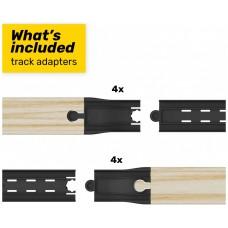Complemento intelino adaptadores pistas madera tren