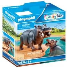 Playmobil diversion en familia hipopotamo con