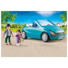 Playmobil ciudad familia con coche descapotable