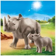 Playmobil diversion en familia rinoceronte con
