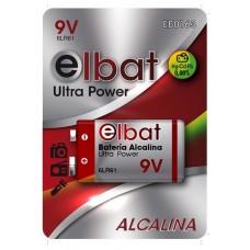 BLISTER 1 PC Pila Alcalina 6LR61/9V ELBAT