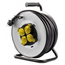 Enrollador de Cable PRO 25 Metros Cable 3X2.5MM Tambor Fijo ELBAT