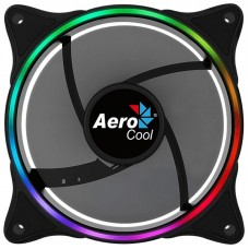 AEROCOOL ECLIPSE ARGB FAN, 12CM, 3,4&6-PIN, LED DUAL SLIM RING, PWM