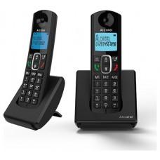 Alcatel F680 Duo Teléfono DECT Negro Identificador de llamadas