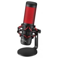 HyperX QuadCast Micrófono de superficie para mesa Negro, Rojo