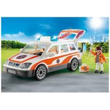 Playmobil rescate coche emergencias con sirena