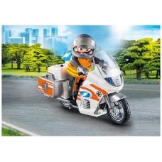 Playmobil rescate moto emergencias con sirena