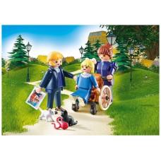 Playmobil heidi clara padre y señorita