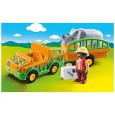 Playmobil 1.2.3 vehículo del zoo con