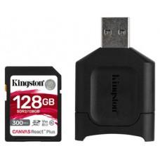 Kingston Technology Canvas React Plus memoria flash 128 GB SD Clase 10 UHS-II (Espera 4 dias)