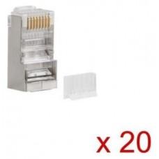 CONECTOR LANBERG CAT6 FTP 8P8C PACK 20 UDS
