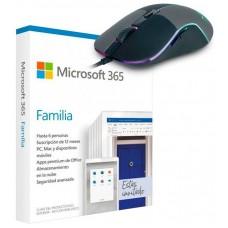 PROMO MICROSOFT OFFICE 365 FAMILY 6PC + RATON M90