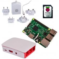 KIT RASPBERRY PI 3 MODELO B+ / MICROSD 32GB NOOBS / F.ALIM. BLANCA / CAJA ROJA-BLANCA (RB-KIT-1032)