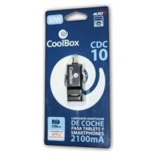 CARGADOR  USB COOLBOX COCHE 2.1A CDC-10  REPCOOCARDC10