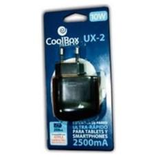CARGADOR  USB COOLBOX PARED UX2 ULTRARRAPIDO DOS