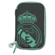 Real Madrid Funda Disco Duro 2.5 Negra Escudo