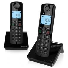 Alcatel S250 Duo Teléfono DECT Negro Identificador de llamadas