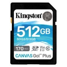 Kingston Technology Canvas Go! Plus memoria flash 512 GB SD Clase 10 UHS-I