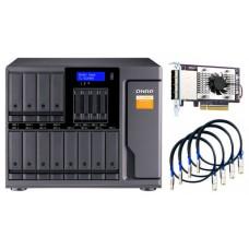 "QNAP TL-D1600S caja para disco duro externo Carcasa de disco duro/SSD Negro, Gris 2.5/3.5"""
