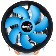 AEROCOOL VERKHO 3 PLUS CPU COOLER, 125w, 12cm PWM BLUE BLADES FAN, HEAT CORE TOUCH TECHNOLOGY, ALUMINUM FINS, 3 DIRECT-CONTACT HEATPIPES, UNIVERSAL: INTEL LGA775/1150/1155/1156/2011/2011V3, AMD AM4/AM3+/AM3/AM2/FM1//FM2/FM2+